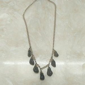 Apache tears obsidian necklace